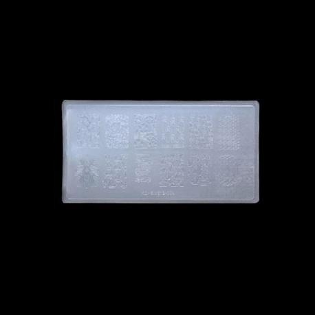 Płytka ze wzorkami plastikowa